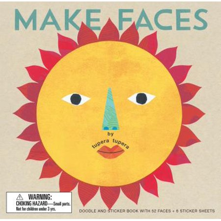 Make Faces : Doodle and Sticker Book with 52 Faces + 6 Sticker