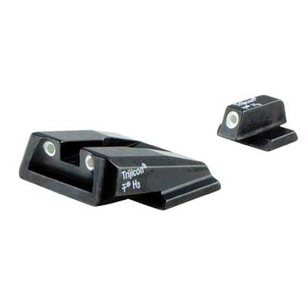 Trijicon SA39-C-600714 Bright Night Sights For S&W M&P Shield Green Front & Rear Lamps -