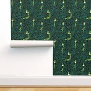 Removable Water-Activated Wallpaper Quetzal Tropical Bird K Heck Art Watching