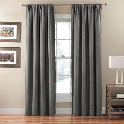 Corsica Crushed Microfiber Blackout Curtain Panel Smokey Blue, 84""