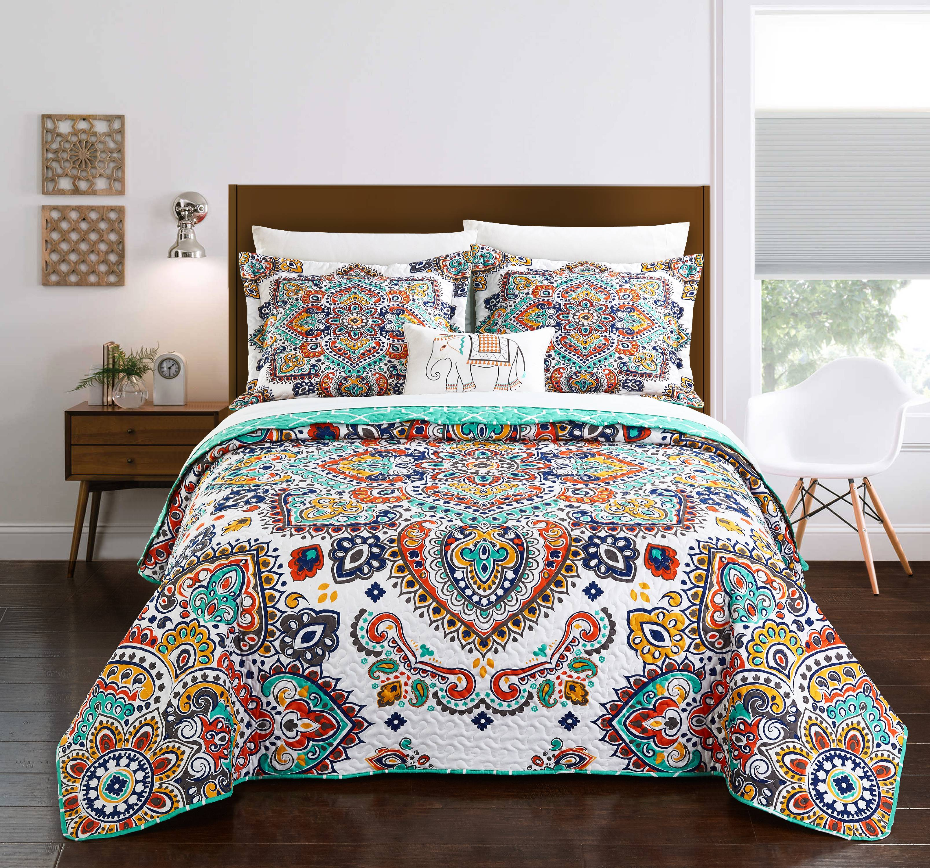 Chic Home Maha 4 Piece Reversible Quilt Set, Bedding Cover by Chic Home