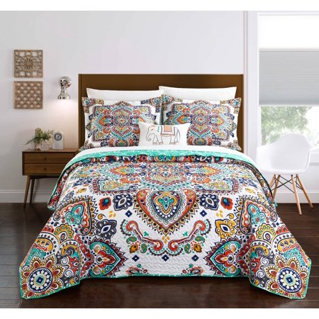 Chic Home Maha 4 Piece Reversible Quilt Set, Bedding Cover