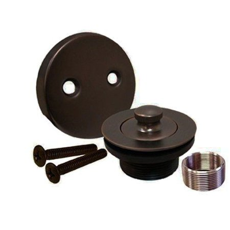 Oil Rubbed Bronze Lift and Turn Bathtub Tub Drain Assembly, All Brass