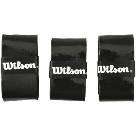 Dunlop Tennis Grips (Wilson Ultra Wrap Comfort Overgrip (3-Pack), Black )
