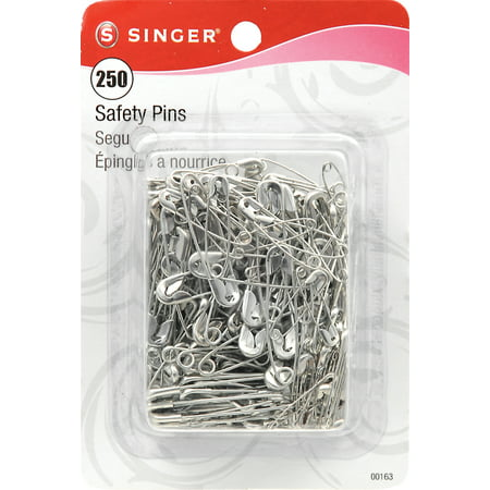 Safety Pins-Sizes 0 To 2 250/Pkg