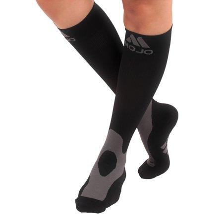 Mojo Compression Socks, 20-30mmHg, Unisex Stockings - (Black, Small) Mpeg 2 Compression