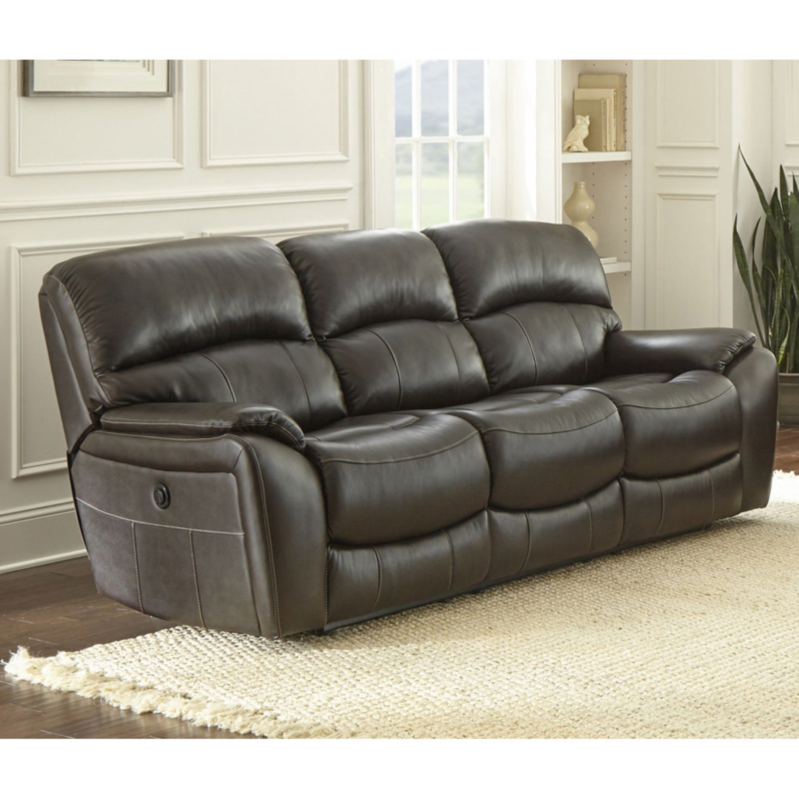 Steve Silver Co Rolanda Leather Sofa Walmart Com