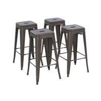 Howard Metal Bar Stool, Set of 4 - Multiple Colors/Sizes