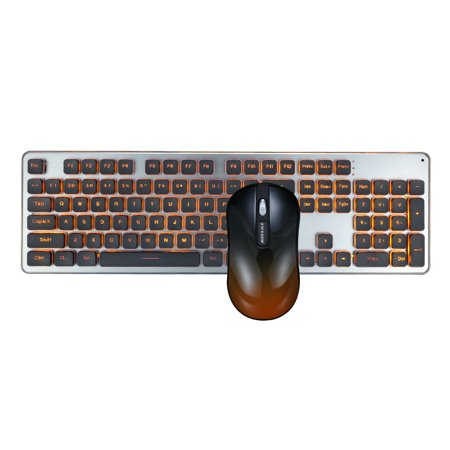 Gaming Keyboard and Mouse Combo GLK350 Resolution 1800dpi Silence Ultra-thin for Gaming for Laptop, PC, Desktop, Computer /MAC Black and White