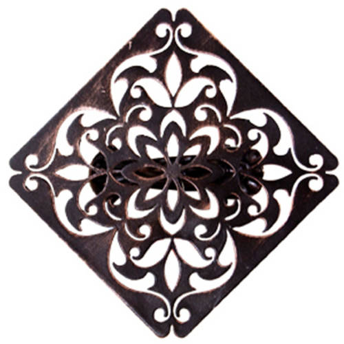 Better Homes and Gardens Medallion Curtain Holdback Clip, Oil-Rubbed Bronze