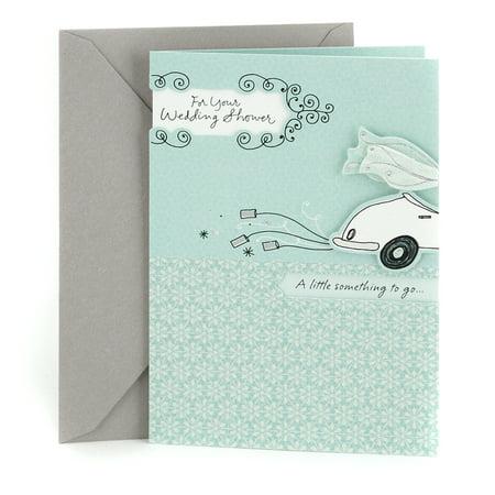 Bridesmaid Wedding Greeting Card - Hallmark Wedding Shower Greeting Card (Get-Away Car)
