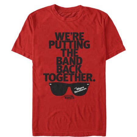 The Blues Brothers Men's Band Back Together Sunglasses T-Shirt ()