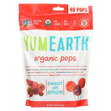 Yumearth Organics Organic Lollipops - Assorted - 8.5 Oz (Bins Organic Lollipops)