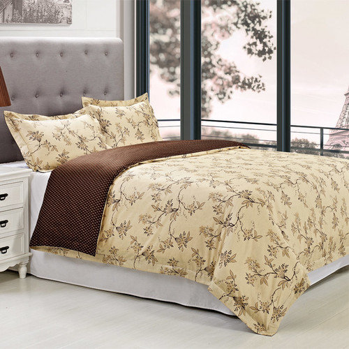 Simple Luxury Woodhaven 3 Piece Duvet Cover Set