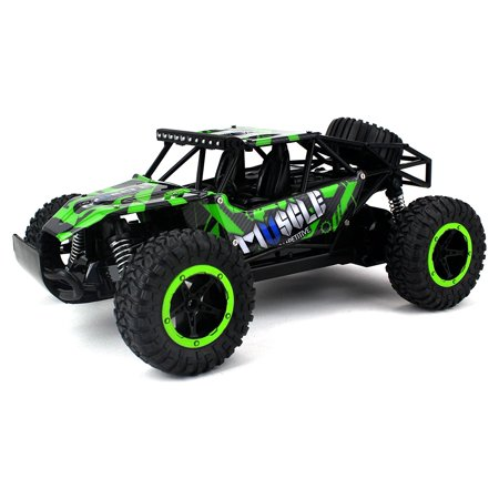 Helicopter 2.4 Ghz Metal - Muscle Baja Remote Control RC Truggy Truck Buggy 2.4 GHz PRO System 1:16 Scale Size RTR w/ Working Suspension, Spring Shock Absorbers (Colors May Vary)