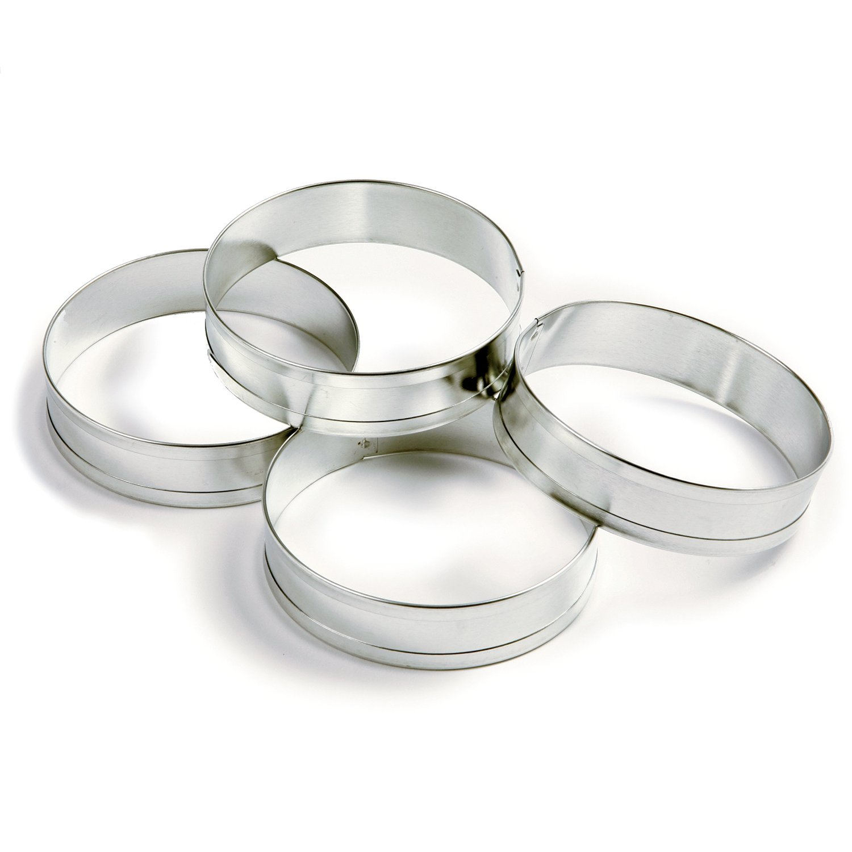 """Norpro English Muffin Ring Set 4 Pieces For Egg Pancake 3.5""""/9cm Diameter 3775"""