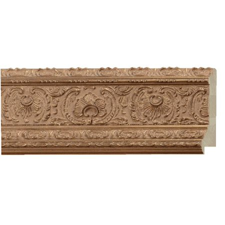 - Picture Frame Moulding (Wood) - Ornate Antique Gold Finish - 4