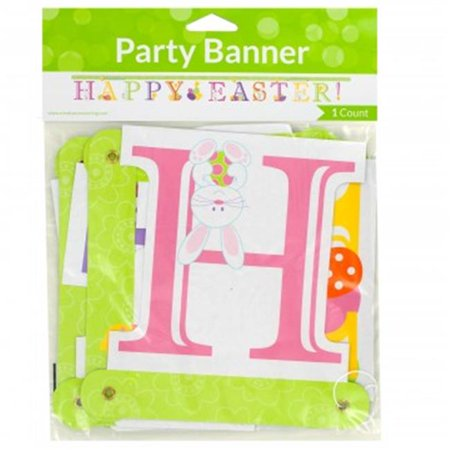 Kole Imports PB918-72 Happy Easter Jointed Party Banner, 72 Piece - image 1 de 1