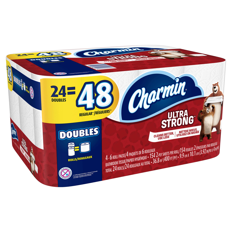 Charmin Ultra Strong Toilet Paper 24 Double Rolls - Walmart.com