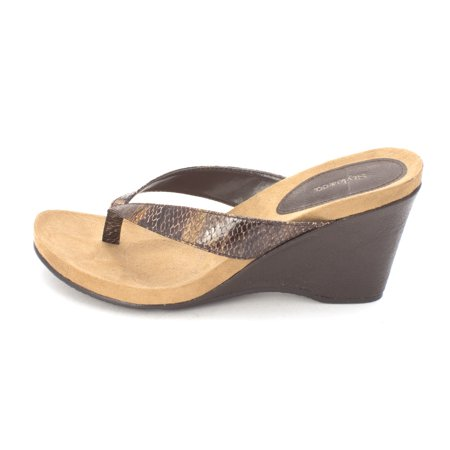 3f99188ebd0 Style   Co. - Women s Chicklet Thong Wedge Sandals - Walmart.com
