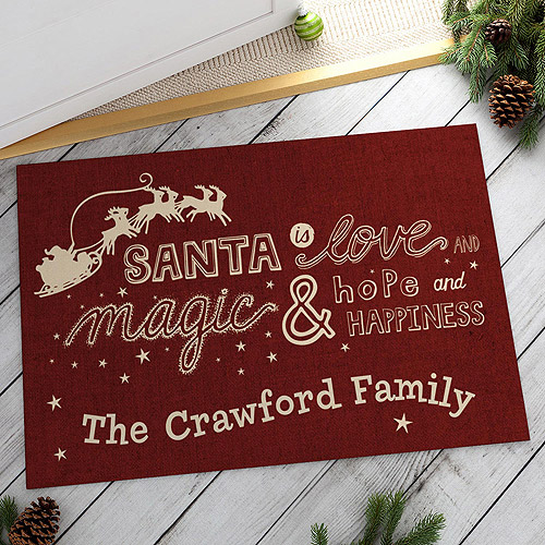 Personalized What Santa Is Doormat