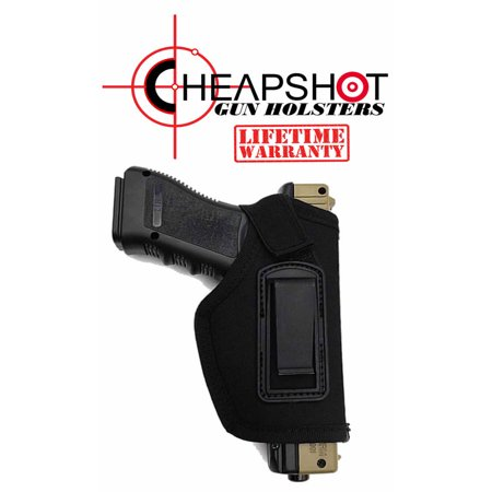 CheapShot BLACK Ballistic Nylon Cordura IWB Gun Holster Concealed Carry  1911 S&W M&P Shield GLOCK 26 27 29 30 33 42 43 Springfield XD XDS Ruger LC9