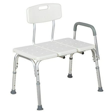 (Medical Shower Chair 10 Height Adjustable Bath Tub Bench Stool Seat Back and Arm)