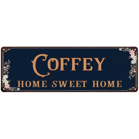 COFFEY Home Sweet Home Victorian Look Personalized 6x18 Metal Sign 106180046584 (Personalized Sweets)