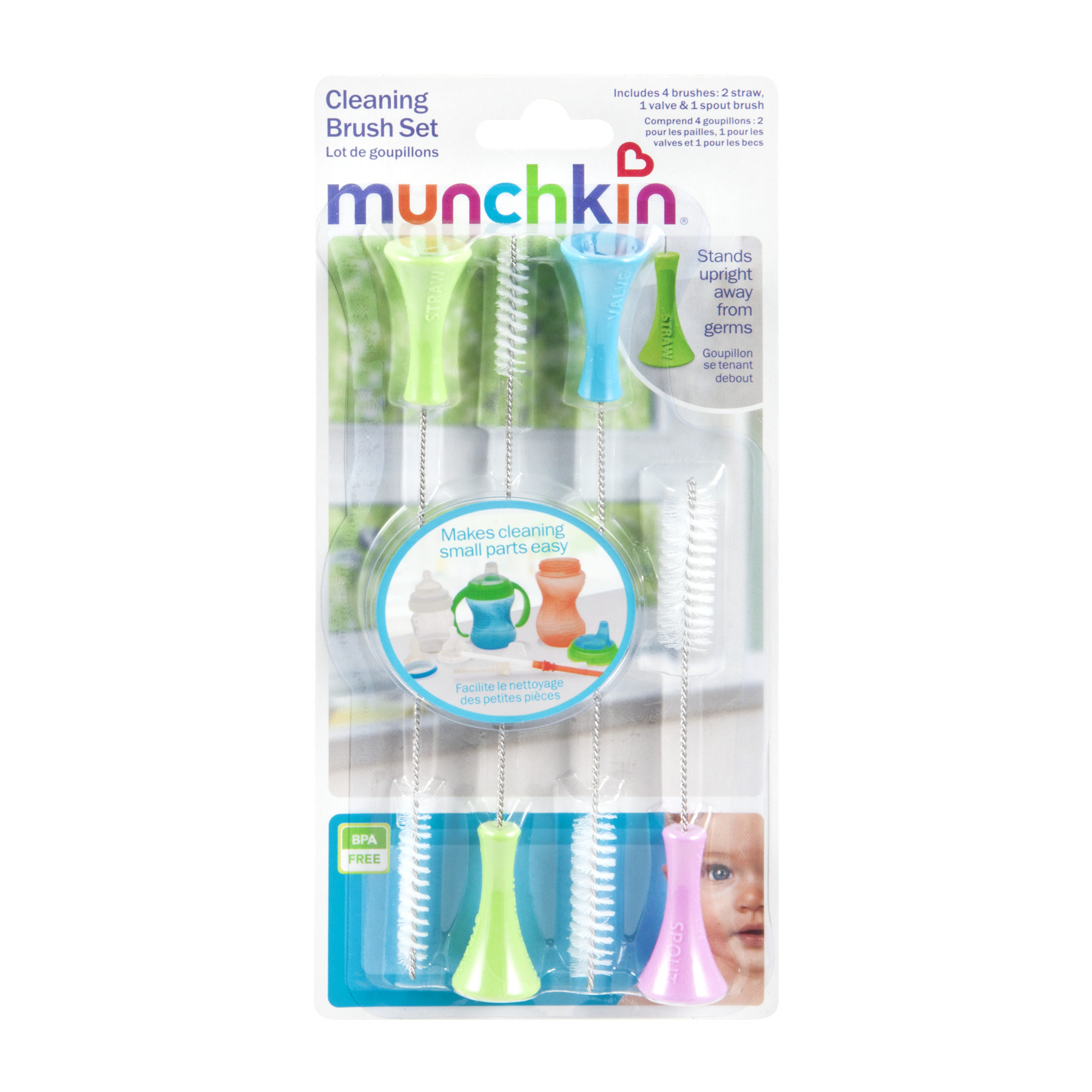 Munchkin Cleaning Brush Set, 4.0 CT