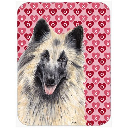Caroline's Treasures Valentine Hearts Belgian Tervuren Hearts Love and Valentine's Day Glass Cutting Board