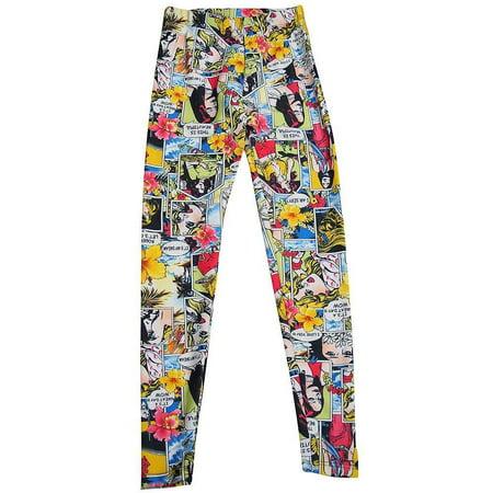 d6014c21 Zara Terez - Zara Terez - Big Girls Stretch Legging Multi Comics / 14 -  Walmart.com