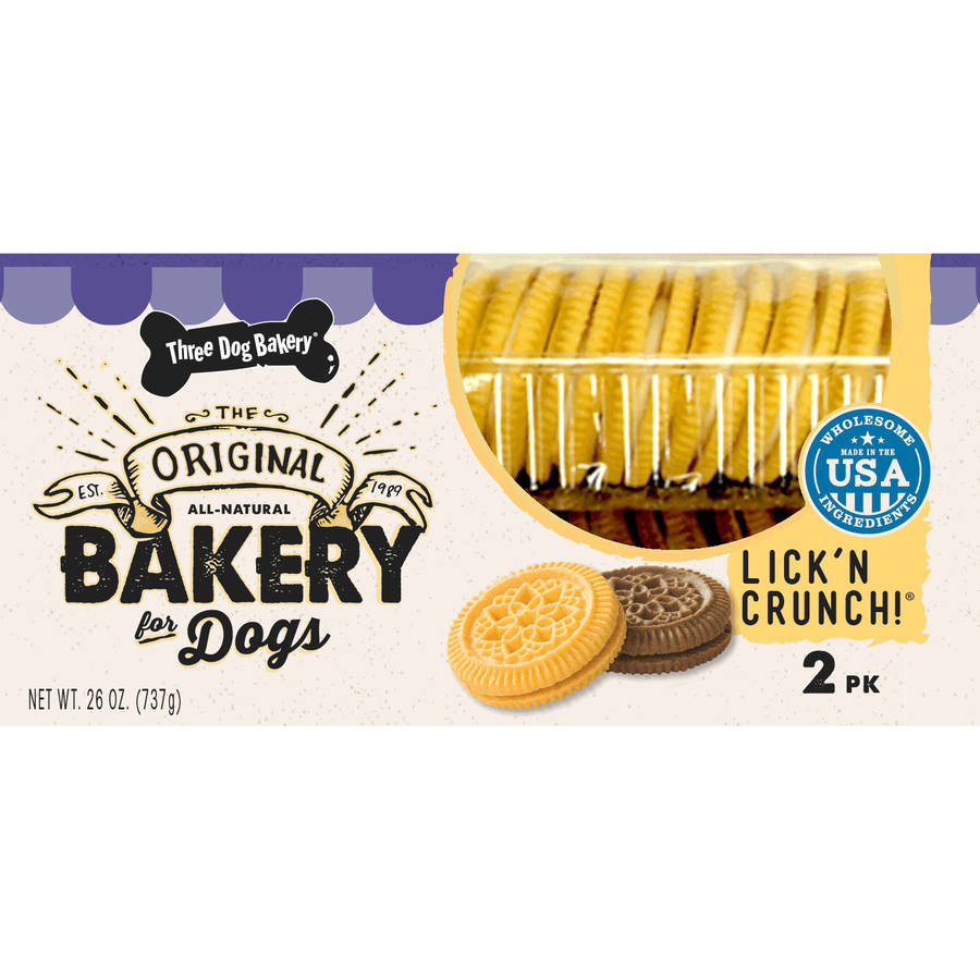 Three Dog Bakery Lick 'n Crunch Dog Treats, 26 oz