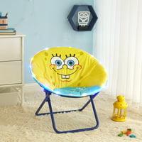 "Nickelodeon Spongebob LED Light Up Kids Folding Lounge Saucer Chair, 23"" Size"