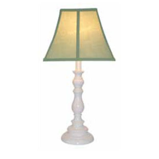 Creative Motion Industries 60118 White Base Resin Table Lamp - Sage -with 13 W, CFL Bulb-