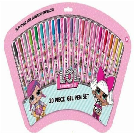 LOL Surprise Gel Pen Set Kit [20 Pieces!] (Executive Pen Kit)