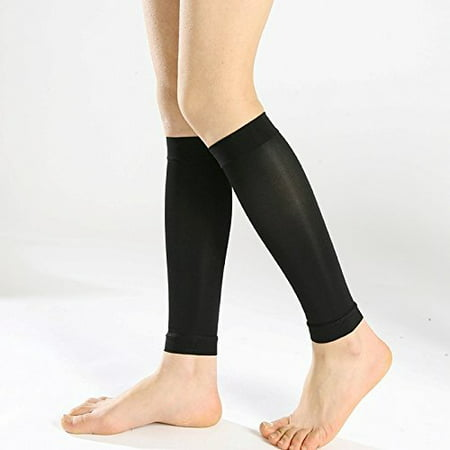Sheer Graduated Compression Calf / Shin Splint Firm Support Sleeves - One Pair - X-Large,