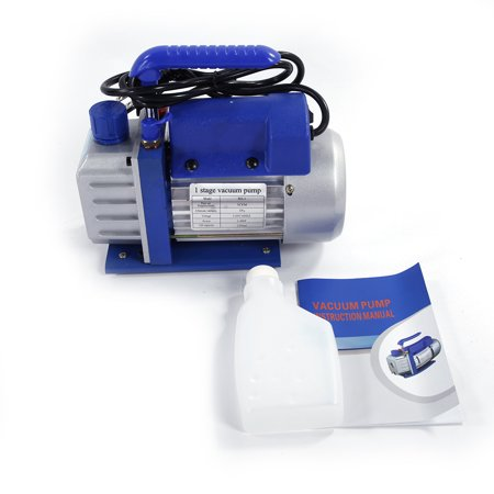 Zimtown 3Cfm 1/4Hp Rotary Vane Vacuum Pump, for Single Stage A/C Deep HVAC Air Conditioning, Perfect for Vacuum Sealing Jars, Preserving Food, Degasification, Hot-forming Plastic - image 3 of 7