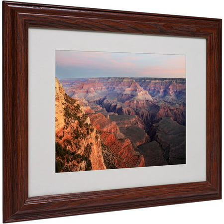 "Trademark Fine Art ""Grand Canyon Sunrise"" Matted Framed Art by Pierre Leclerc"