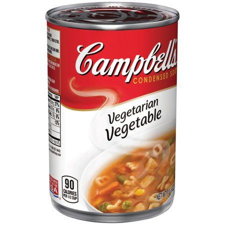 Campbells Alphabet Vegetarian Vegetable Soup  10 5 Oz