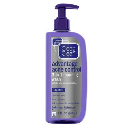 Clean & Clear Advantage Acne Control 3-in-1 Foaming Face Wash 8 fl.