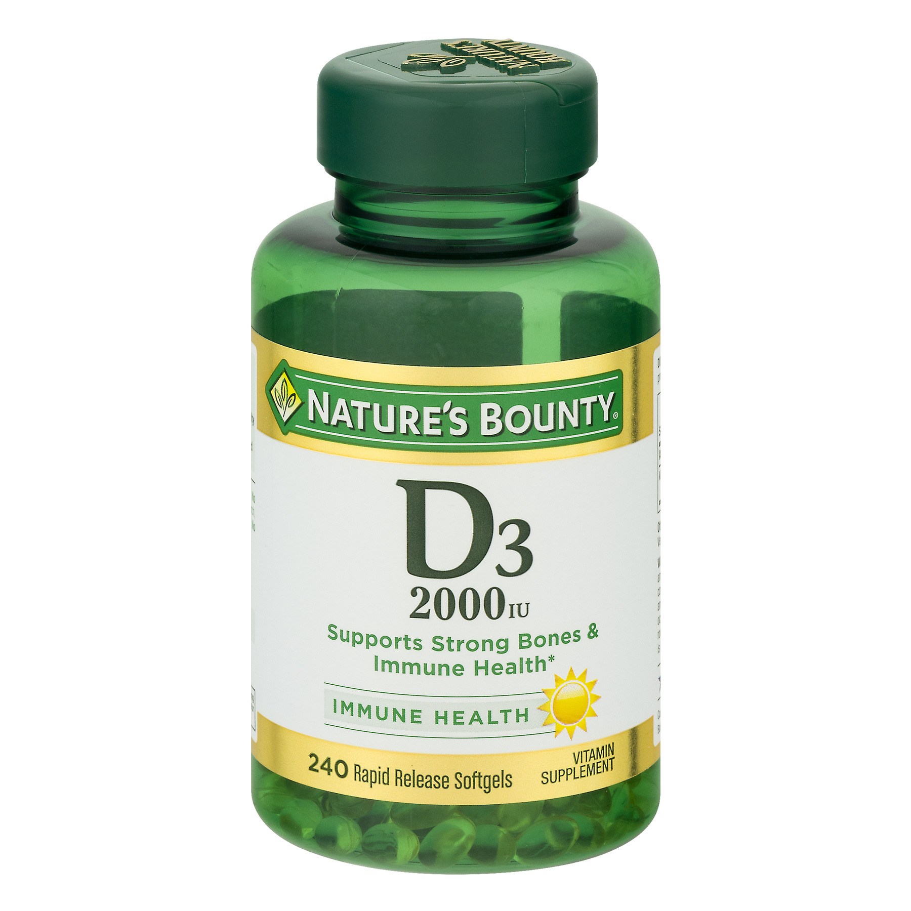 Nature's Bounty D3, 2000 IU Rapid Release Softgels, 240ct