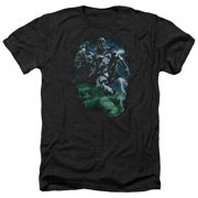 Green Lantern Black Lantern Batman Mens Heather Shirt