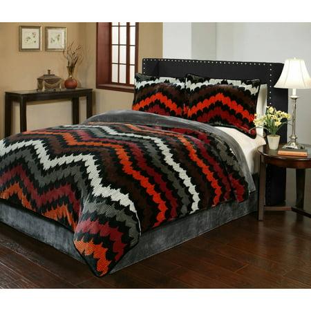 Fedora Velvet Plush Print Bedding Comforter Mini Set by Sun Yin