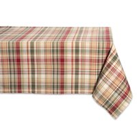 """Design Imports Classic Rectangle Give Thanks Plaid Kitchen Tablecloth, 120"""" x 60\ by Design Imports"""