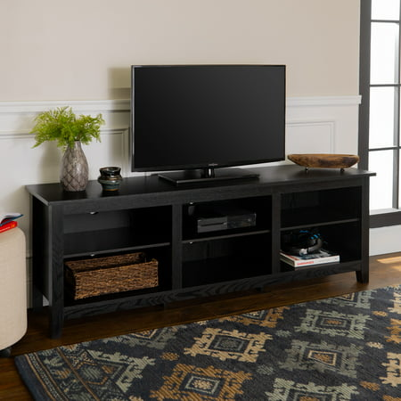 Walker Edison Wood TV Media Storage Stand for TV's up to 78