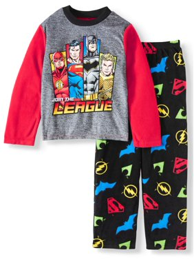 Justice League 2PC Pajama Set (Little Boy & Big Boy)