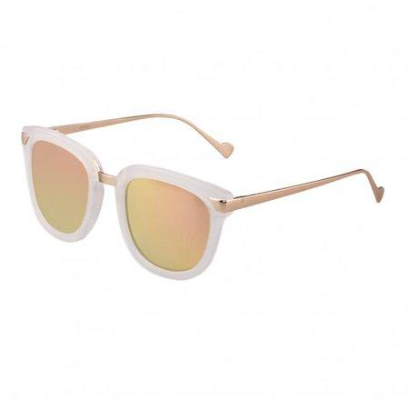 Bertha BRSBR029CR Jenna Polarized Sunglasses - Clear & Rose Gold