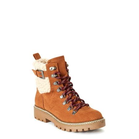 Scoop Women's Addison Faux Sherpa Hiker Boot