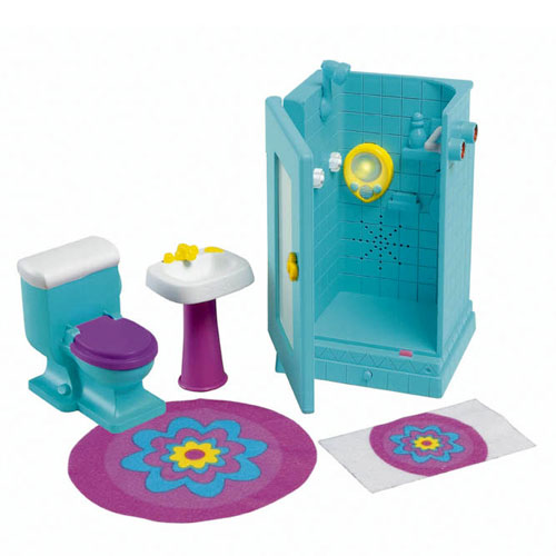 Fisher Price Dora The Explorer Twinkling Lights & Sounds Bathroom Playset