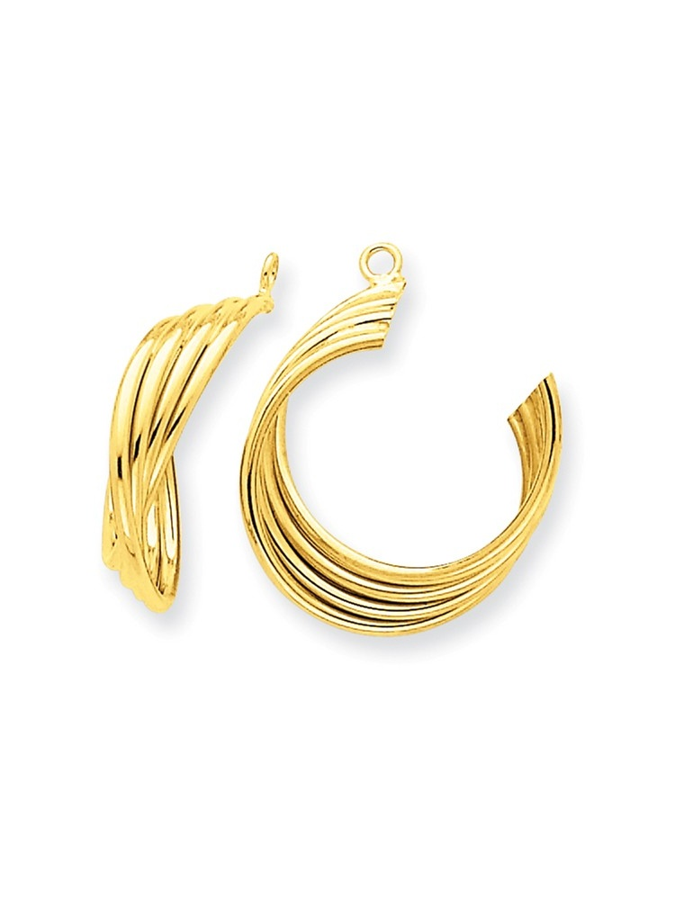 ICE CARATS 14kt Yellow Gold Hoop Earrings Ear Hoops Set Jacket Jackets Studs Fine Jewelry Ideal Gifts For Women Gift Set... by IceCarats Designer Jewelry Gift USA